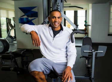 Grant Hill, at the gym