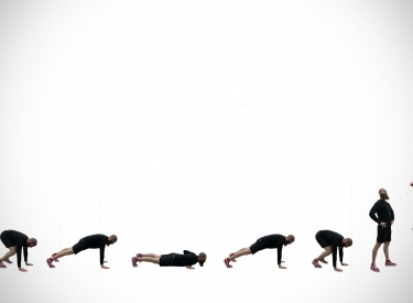 The progression of a burpee movement
