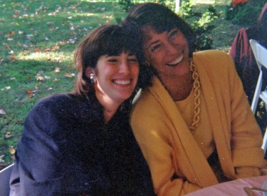 The author with her sister