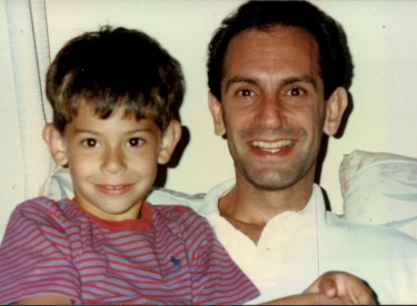 Shatterproof's CEO, Gary Mendell, with his son Brian as a young child