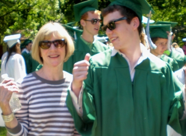 Diana Yoder and her son at graduation