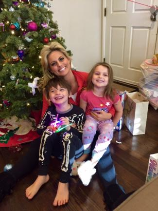 KTLA's Courtney Friel with her kids