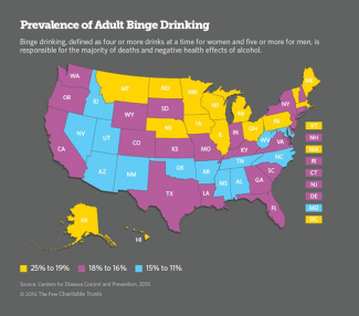 Inforgraphic: Binge Drinking Map