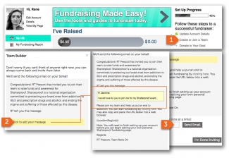 Power Fundraising - Bring it Together on Your Fundraising Page - Invite Team Members