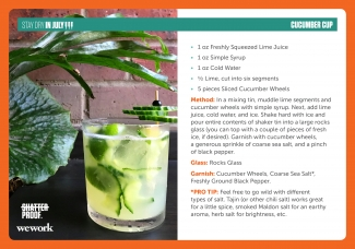 Mocktail recipe for cucumber cup